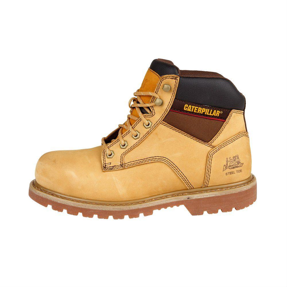 9d68df1af80 Παπούτσια Μποτάκια Ασφαλείας - Εργασίας Καφέ Μελί Caterpillar Tracker  SB-HRO-SRC