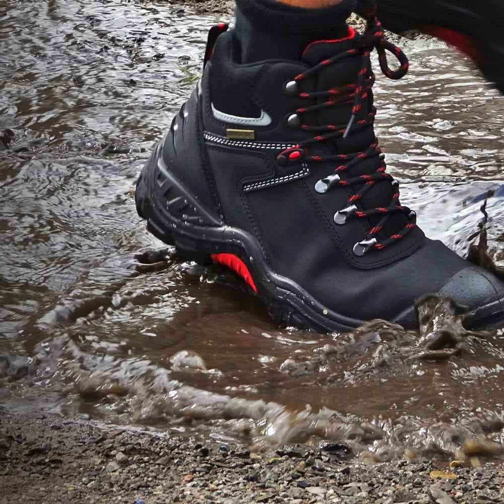 35121debe08 Παπούτσια Μποτάκια Ασφαλείας – Εργασίας Αδιάβροχα Μαύρα Blackrock Tempest  S3-WR-SRC