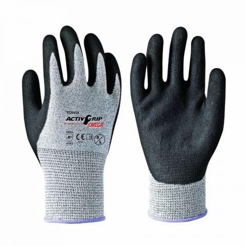 Γάντια Εργασίας – Νιτριλίου Παλάμης – Αντίχειρα Υπερανθεκτικά στην Ολίσθηση & Κοπή TOWA ActivGrip Omega