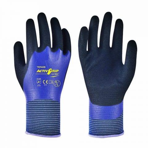 Γάντια Εργασίας Νιτριλίου Ολικής Παλάμης Υπερανθεκτικά στην Ολίσθηση TOWA ActivGrip CJ-569