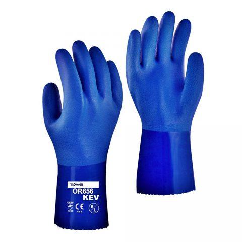 Γάντια Εργασίας PVC Υπερανθεκτικά στην Ολίσθηση & Χημικά TOWA PVC Coated OR655