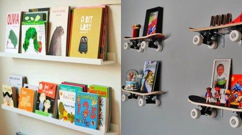 Πως να κρεμάσουμε πρωτότυπα Ράφια Τοίχου σε παιδικό δωμάτιο