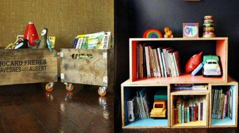 Συναρμολόγηση Βιβλιοθήκης με Ξύλινα Κουτιά